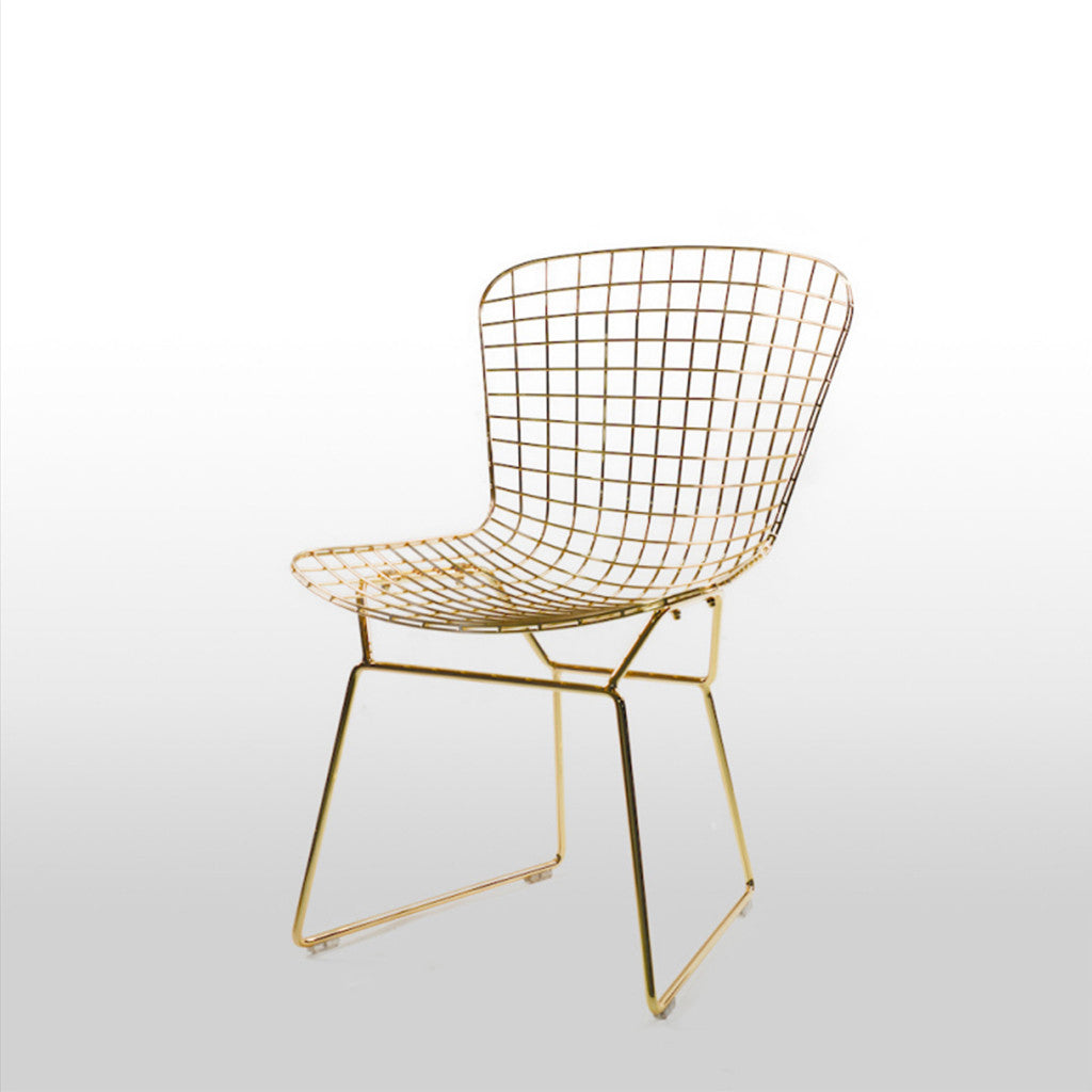 Ella Gold Wire Chair