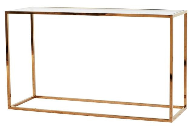 Elle Console Table - Dellis Furniture 1800 x 400 x 700mm / Brass - 3