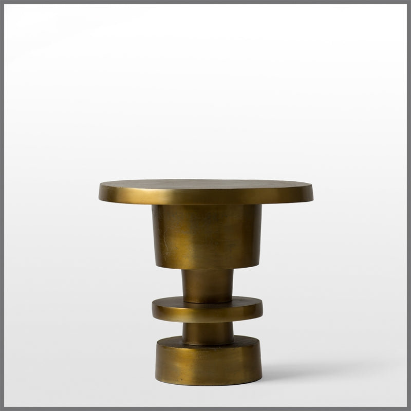 FLOORSTOCK SALE Ellen Aluminium Gold Side Table