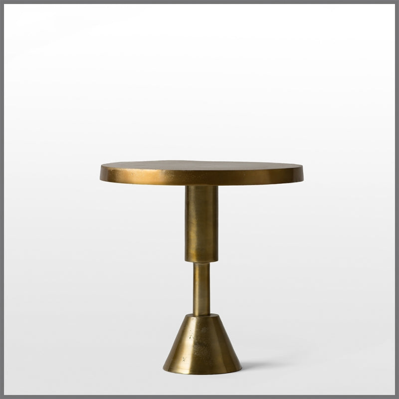 FLOORSTOCK SALE - Grace Aluminium Gold Side Table