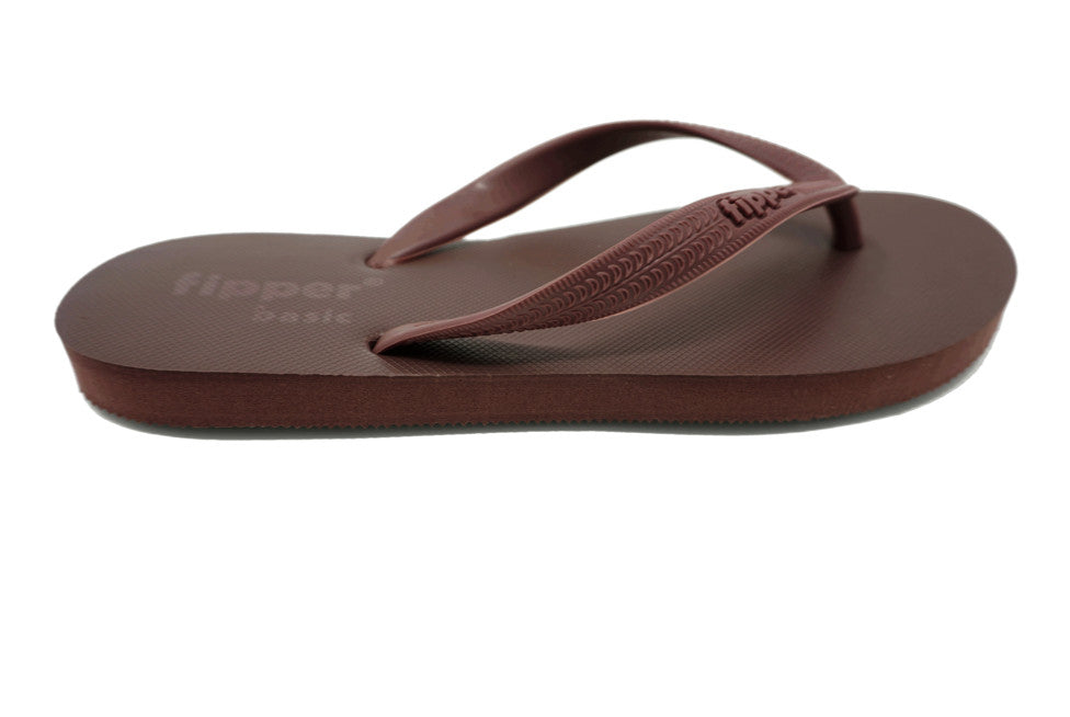 Fipper Basic - Brown - Natural Comfortable Flip Flops