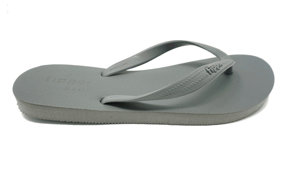 Fipper Basic - Gray - Natural Comfortable Flip Flops