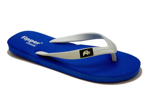 Fipper Classic - Blue White - Comfortable Natural Rubber Flip Flops for Men and Women Biodegradable Vegan Friendly