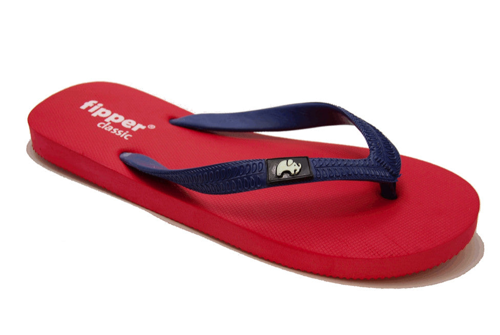 bef9c22c98576a Fipper Classic - Red Navy - Comfortable Natural Rubber Flip Flops for Men  and Women Biodegradable