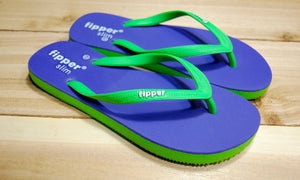 Green Lavender Sole Green Strap Fipper Slim Comfortable Natural Rubber Flip Flops for Women and Juniors Biodegradable Vegan Friendly