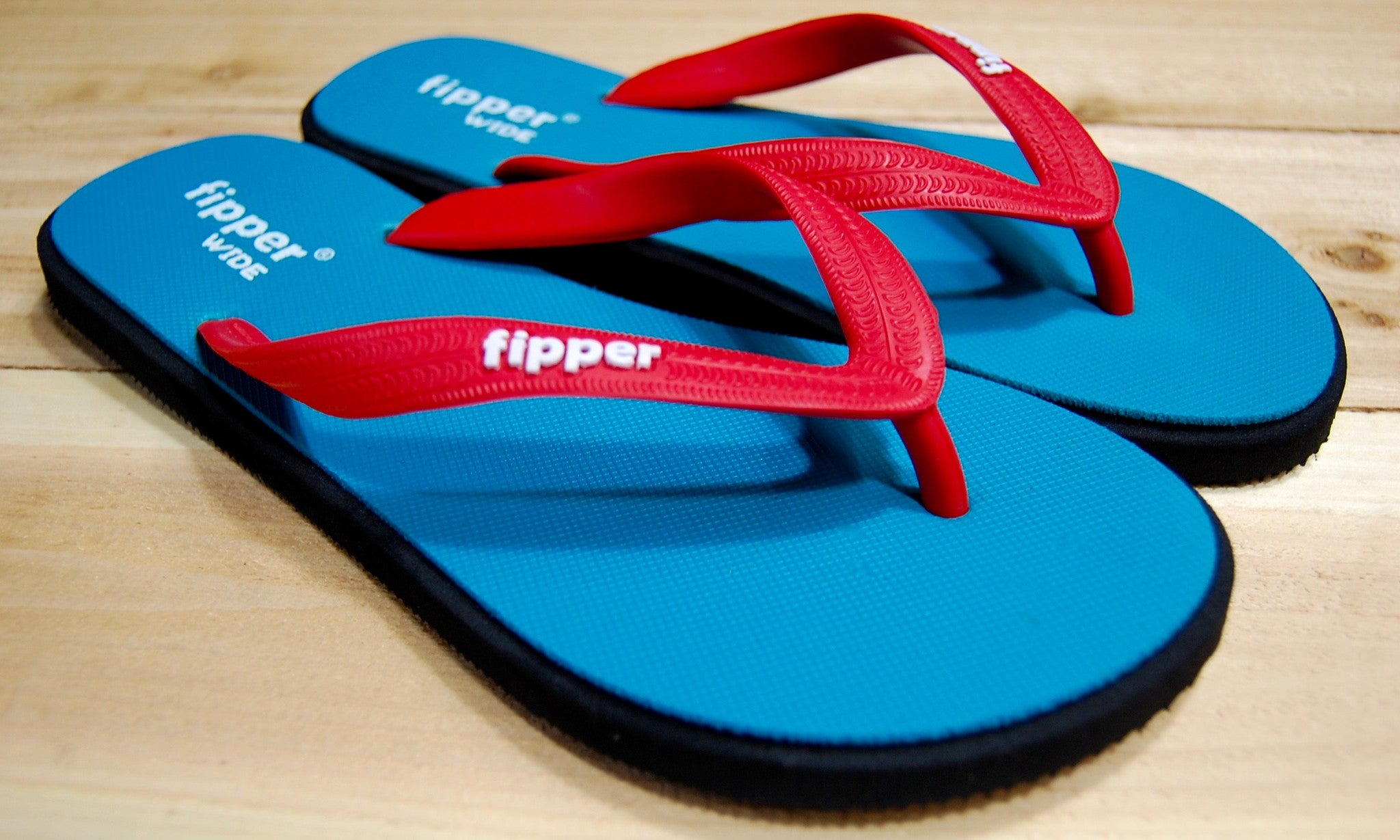 Turquoise Black Sole Red Strap Fipper Wide Comfortable Natural Rubber Flip Flops for Men Biodegradable Vegan Friendly