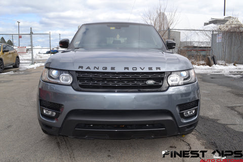 Gunpowder Gray Range Rover Liquid wrapped in Halo Efx for a high gloss by Finest Dips Auto Customs