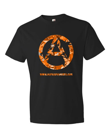Orange Camo Short sleeve t-shirt