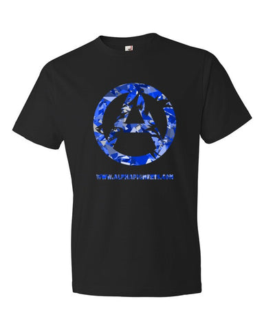 Blue Camo Short sleeve t-shirt