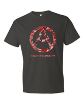 Red Camo Short sleeve t-shirt