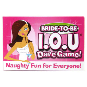 Ball & Chain Bride to Be IOU Dare Game