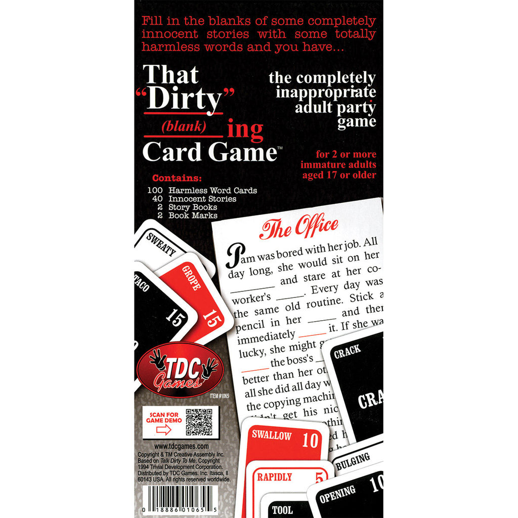 TDC Games That Dirty (blank)ing Card Game - The Completely Inappropriate Adult Party Game