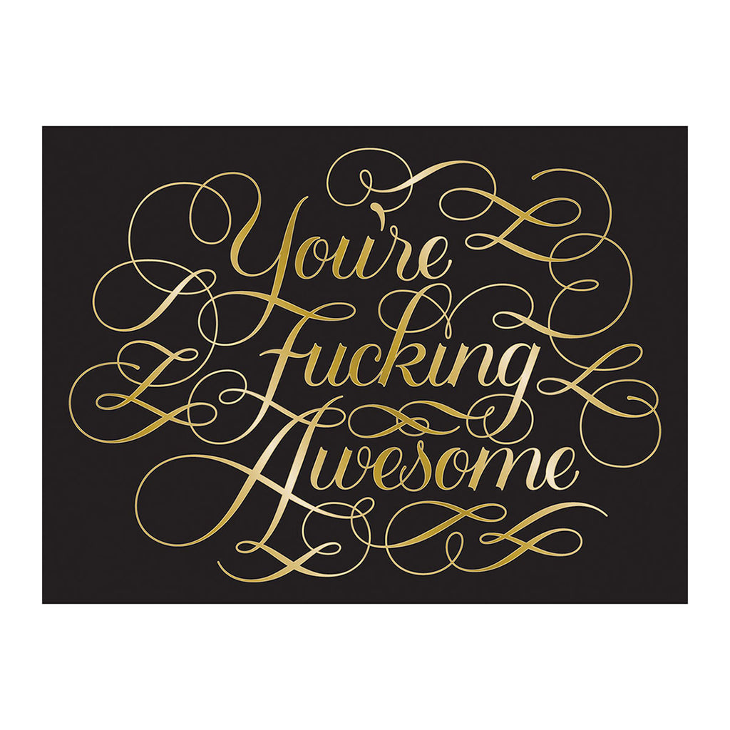 Calligraphuck Calligraphuck You're Fucking Awesome Notecards - 12 pack