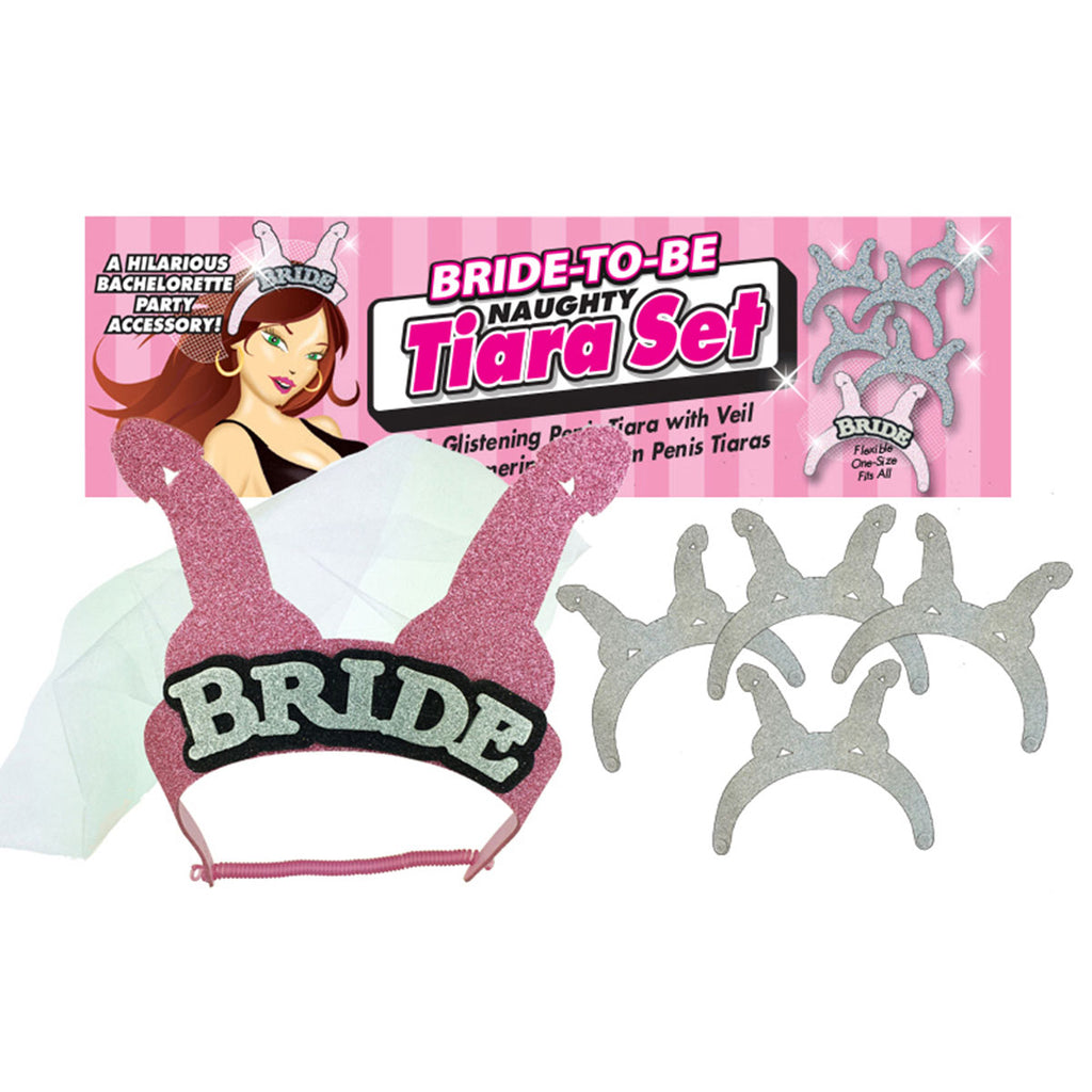 Little Genie Bride-to-Be Naughty Penis Tiara 5 pc Set