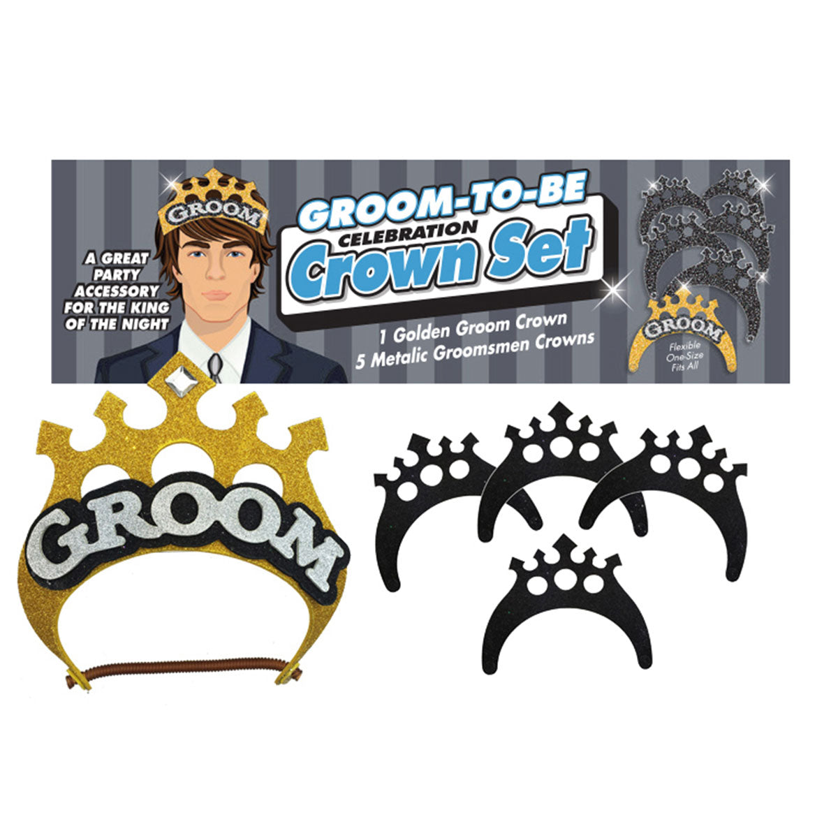 Little Genie Groom to Be Crown 5pc Set