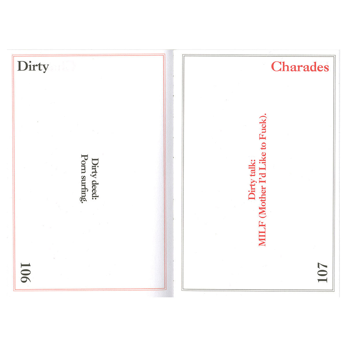 Dirty Charades - The Book, the Game, the Fun - Nicotext