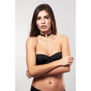 Bijoux Indiscrets Maze Single Ring Choker Brown