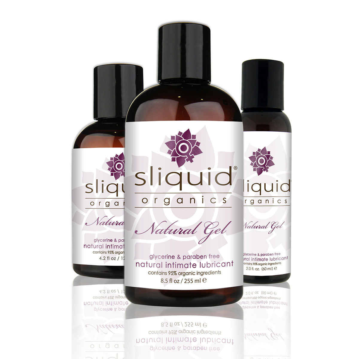 Sliquid Organics Natural Gel - Ultra-Thick Botanically Infused Water-Based Lubricant - 2oz