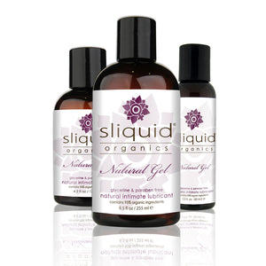 Sliquid Organics Natural Gel - Ultra-Thick Botanically Infused Water-Based Lubricant - 8.5oz