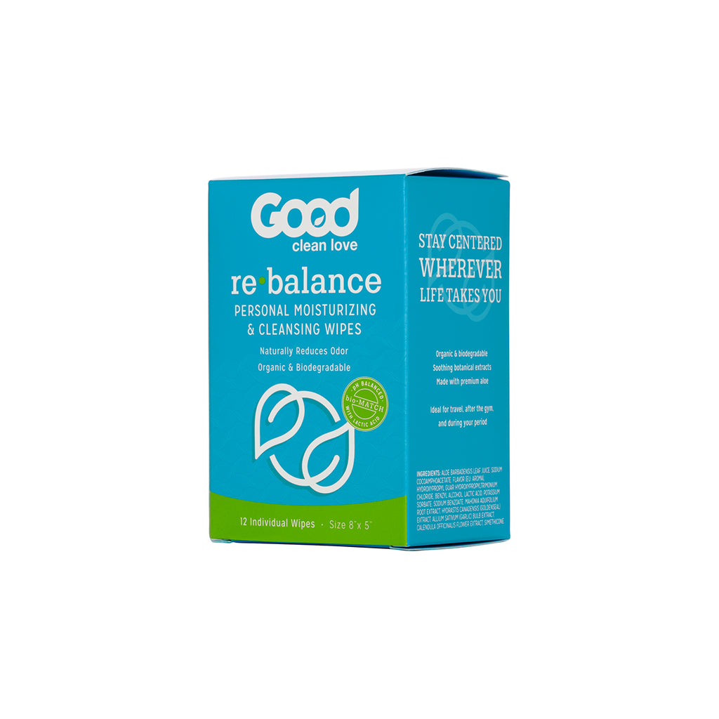 Good Clean Love Rebalance Cleansing Wipes - 12ct