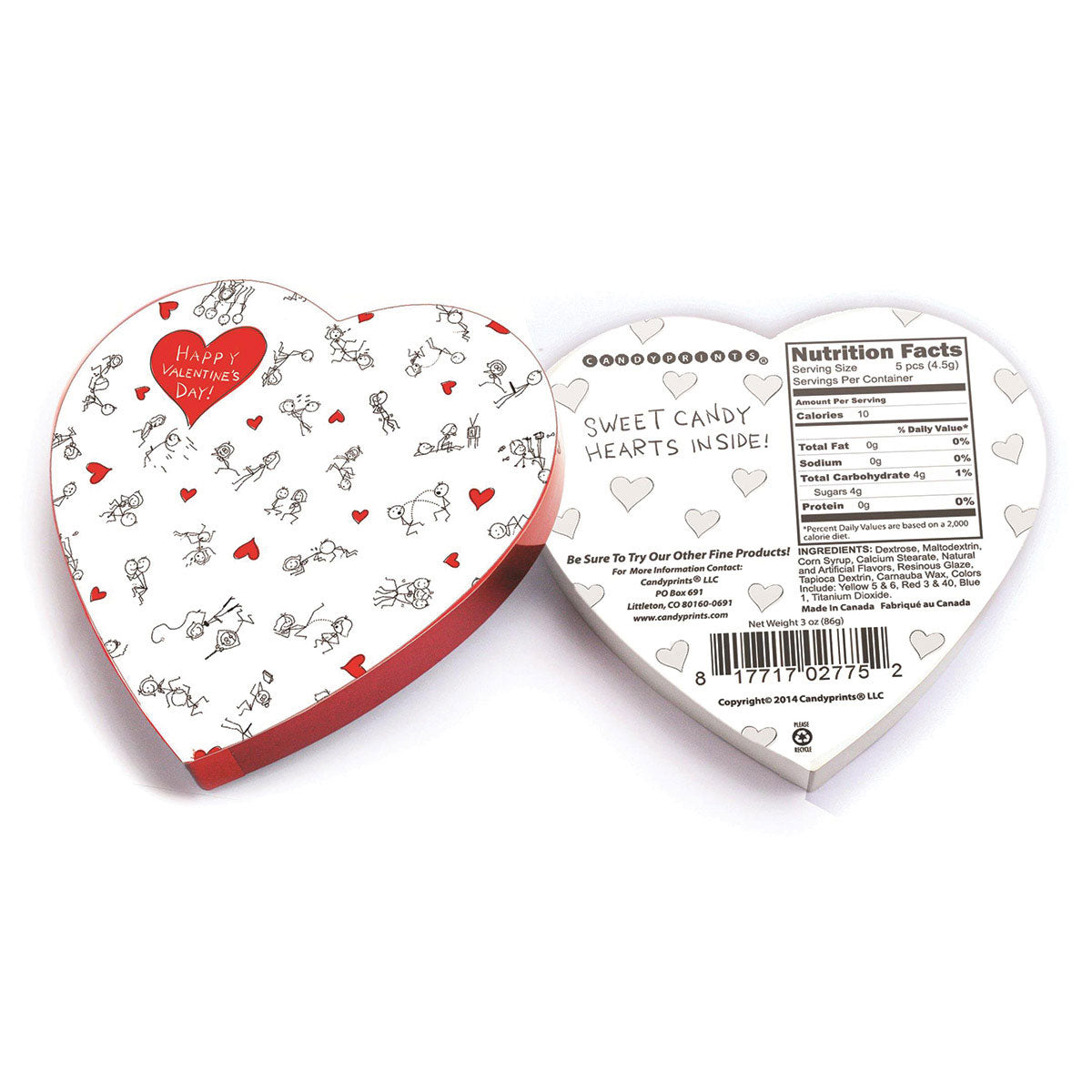 Candyprints Happy Valentines Day Stick Figure Box