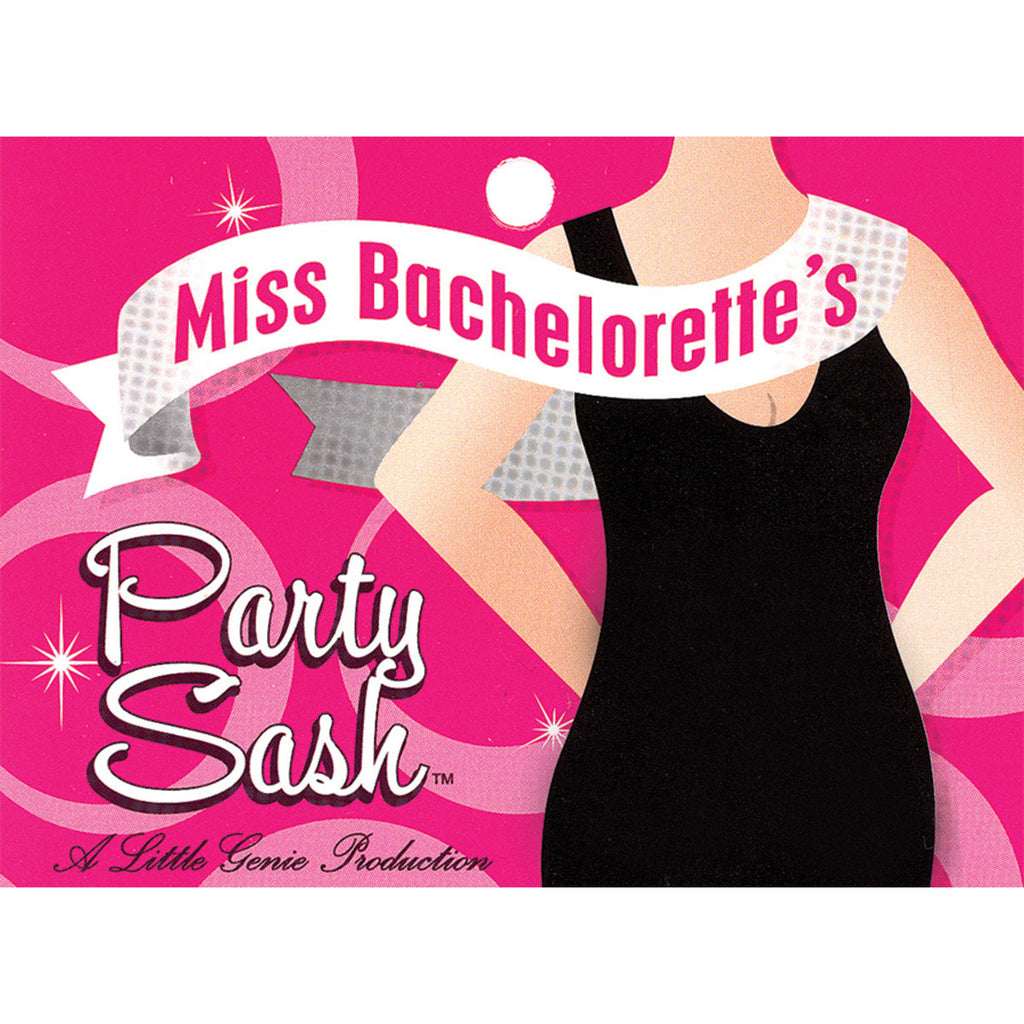 Little Genie Miss Bachelorette Sash - White