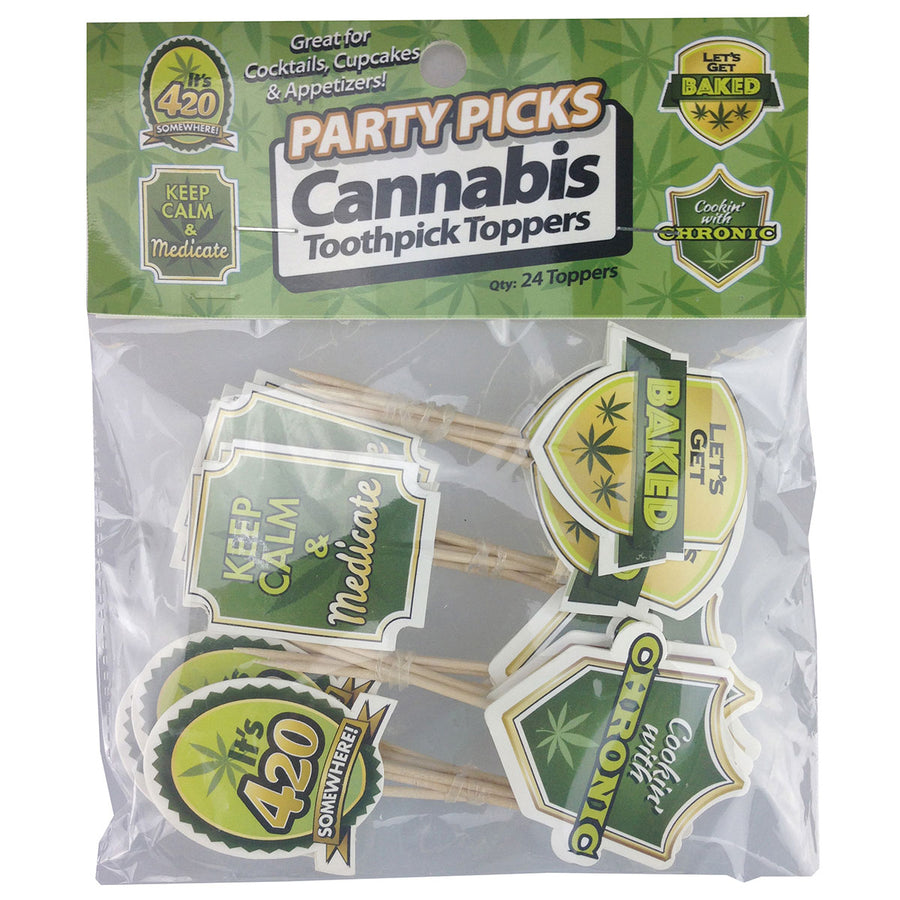 Little Genie Party Picks - Cannabis