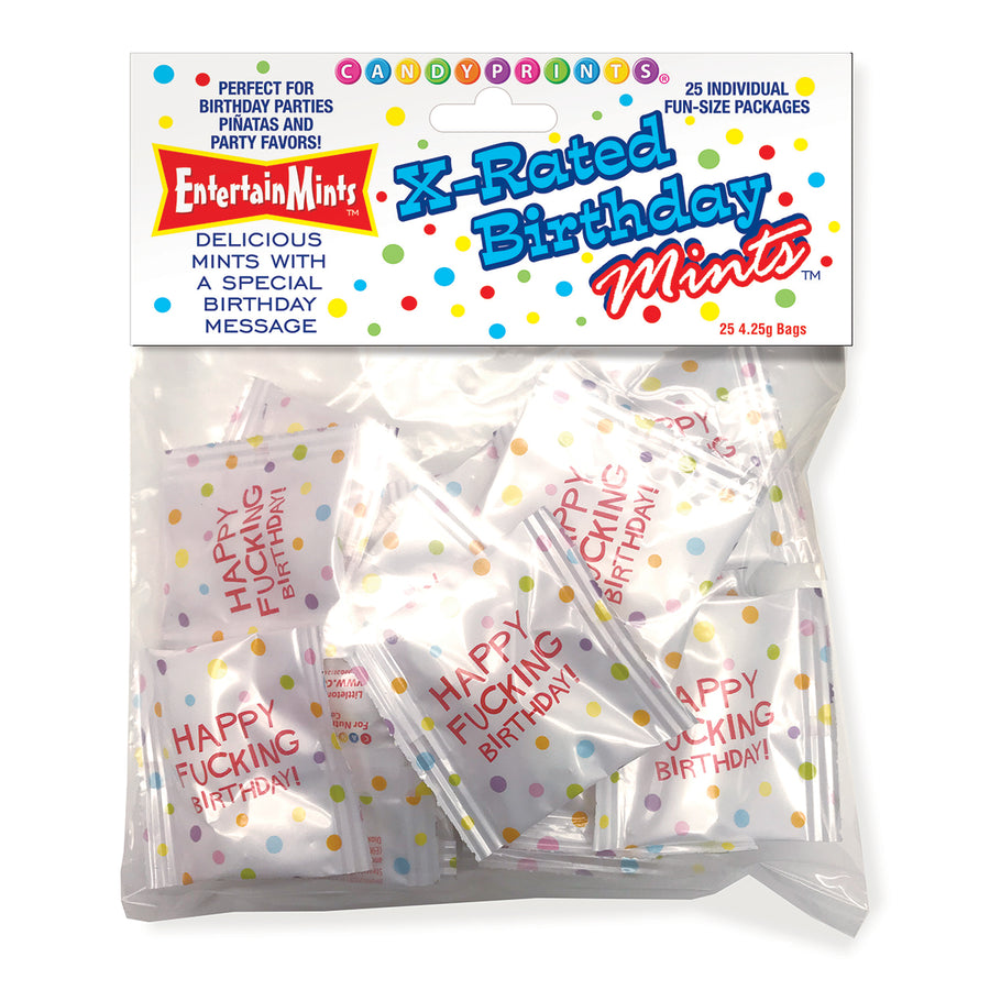 Candyprints X-Rated Birthday Mints Bag of 25
