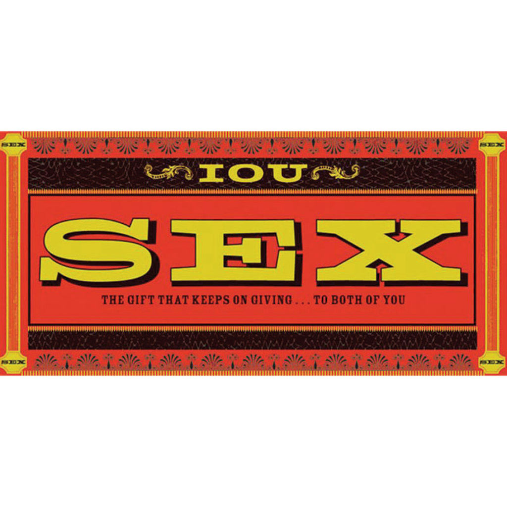 Chronicle Books IOU Sex Coupons