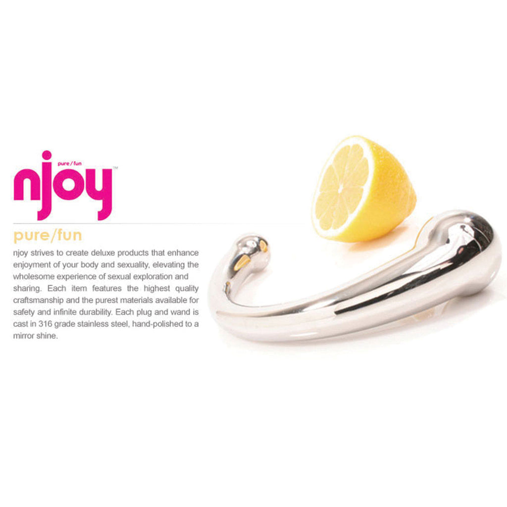 "njoy Pure Wand 11"" Stainless Steel G-Spot Dildo"