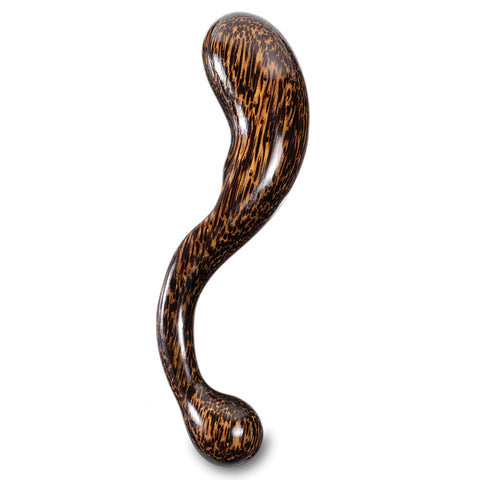NobEssence Seduction Sculpted Wood Curved Prostate & G-Spot Dildo