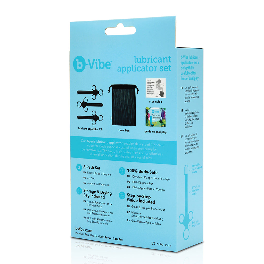 B-Vibe Lubricant Applicator 3pc Set