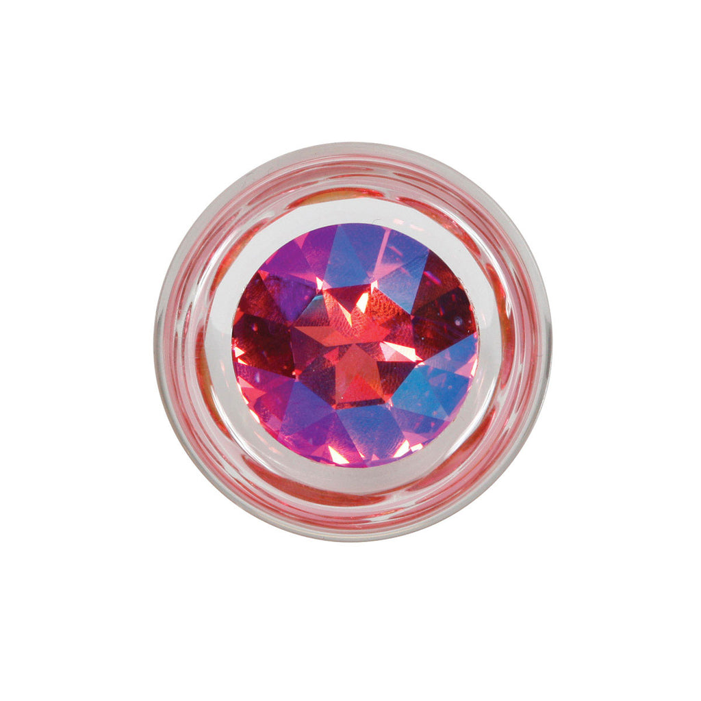 Crystal Delights Pineapple Delight Butt Plug with Pink Crystal