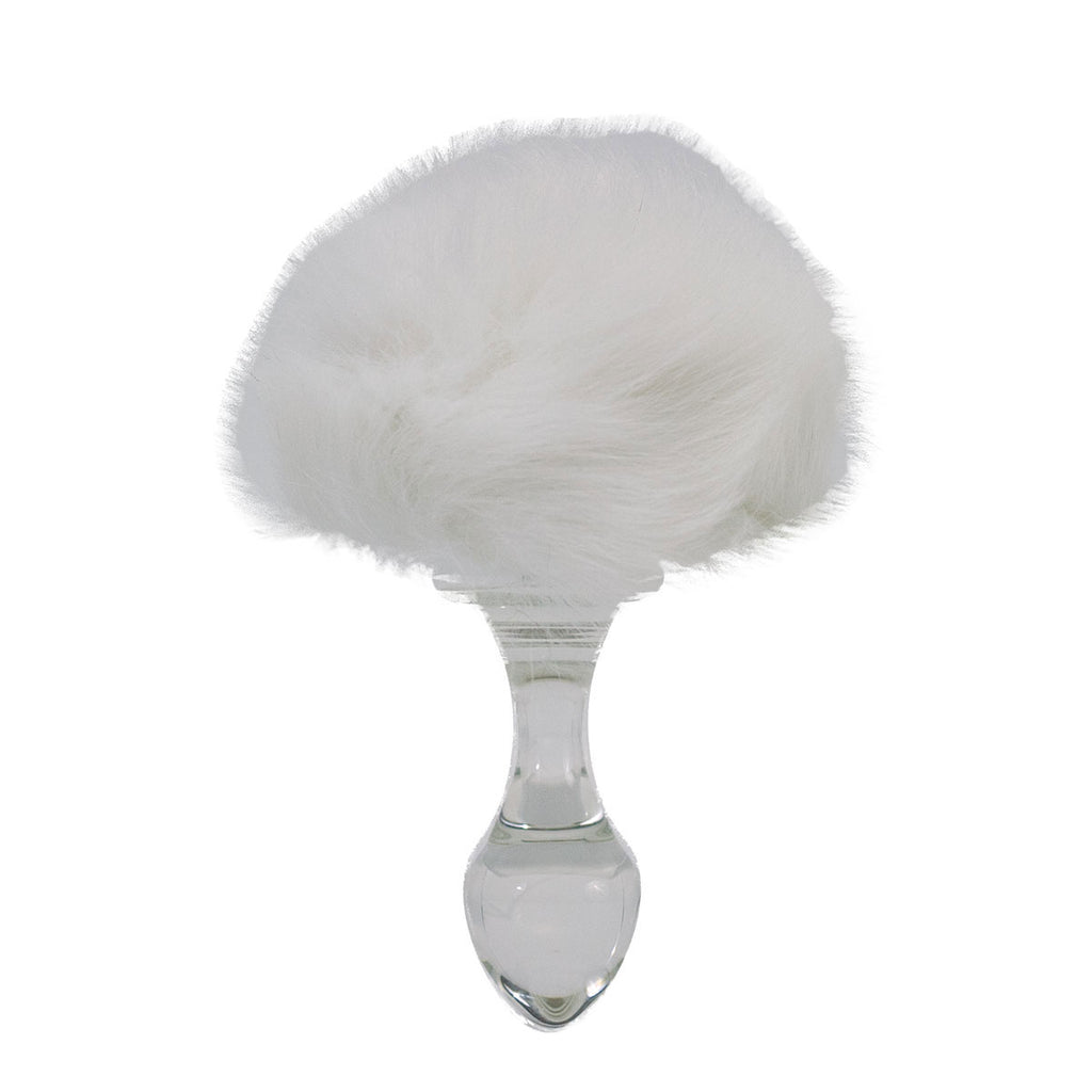 Crystal Delights Bunny Tail Magnetic Butt Plug Pink