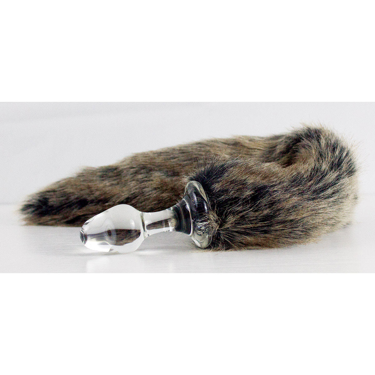 Crystal Delights Crystal Minx Tail Butt Plug Grey Wolf
