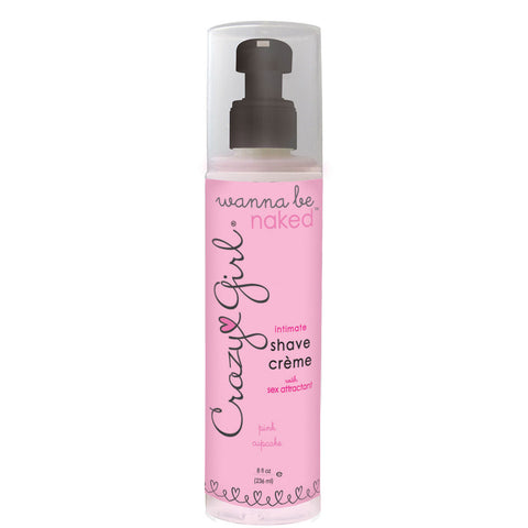 Crazy Girl Wanna Be Naked Shave Creme 8oz Cupcake