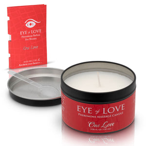 Eye of Love Pheromone Massage Candle 5oz - One Love