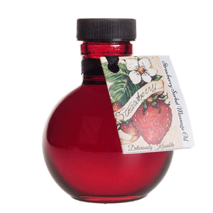 Olivia's Boudoir Kissable Oil - 4oz Strawberry