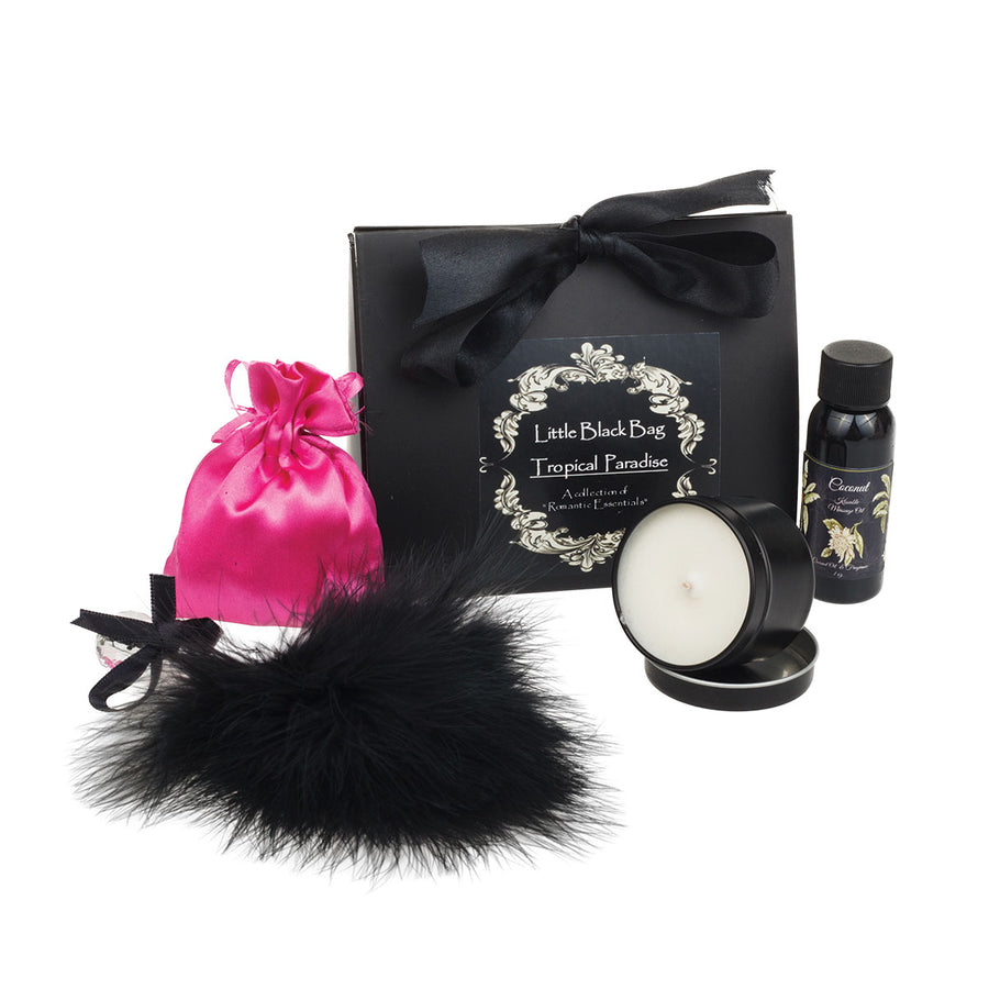 Olivia's Boudoir Black Bag - Tropical Paradise