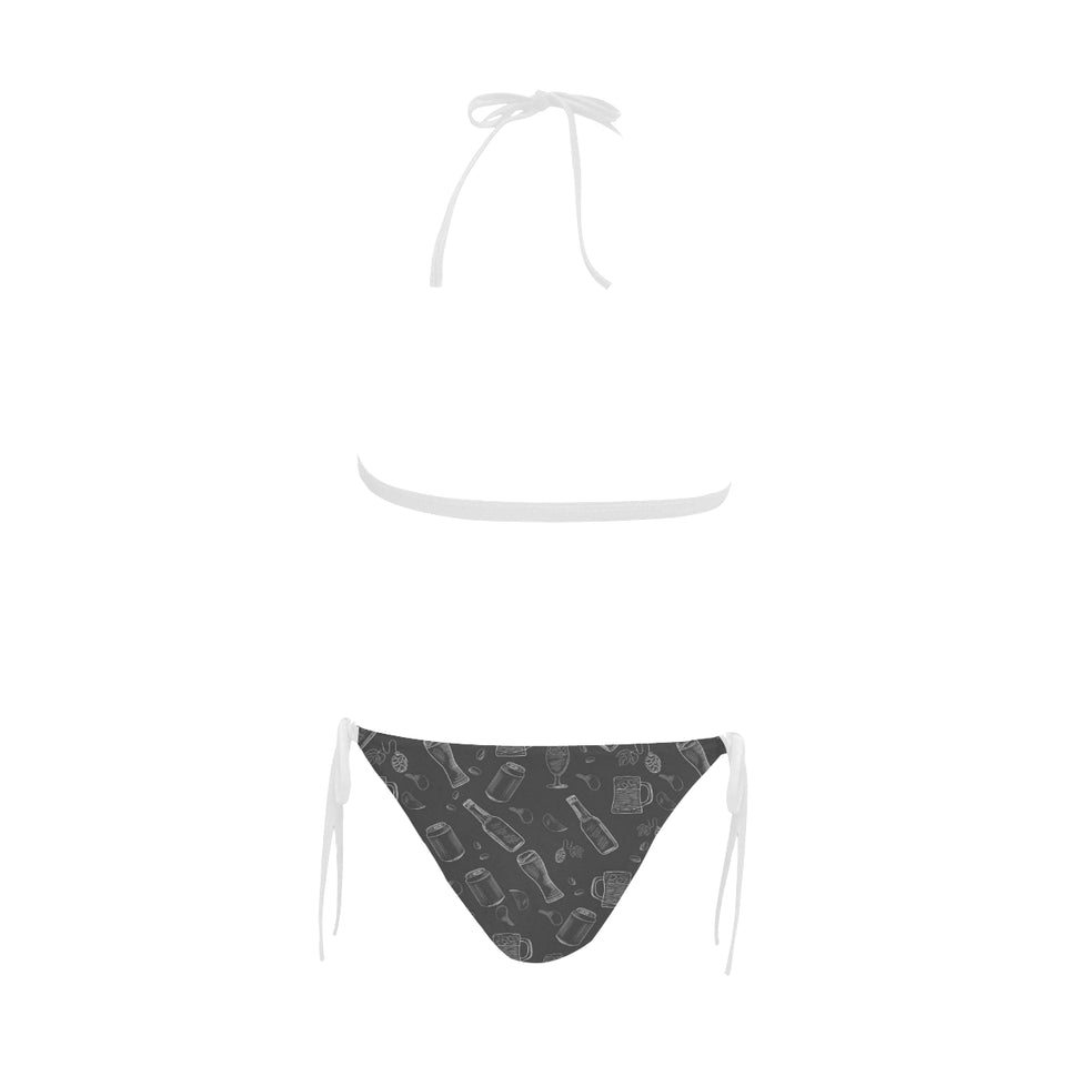 Beer hand drawn pattern Sexy Bikinis Two-Piece Swimsuits