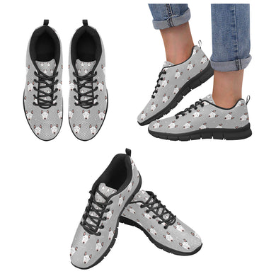 Bull Terrier Pattern Print Design 05 Women's Sneaker Shoes