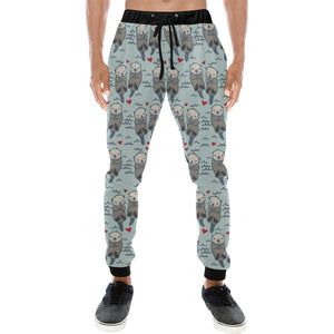 Lovely Sea Otter Pattern Unisex Casual Sweatpants