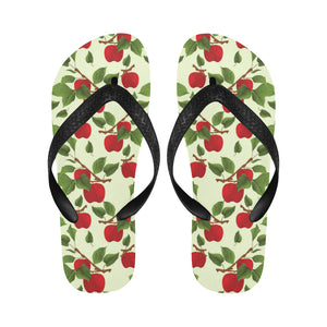 Red apples leaves pattern Unisex Flip Flops
