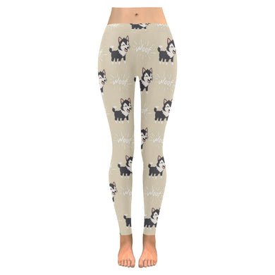 Cute Siberian Husky Women's Legging Fulfilled In US