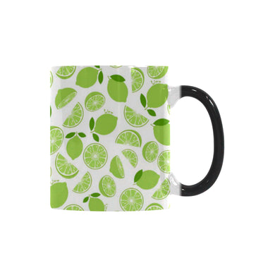 Lime design pattern Morphing Mug Heat Changing Mug