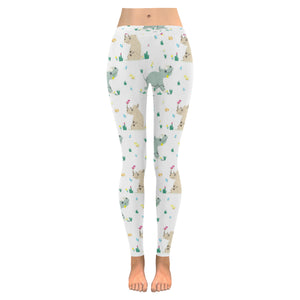 Cute Rhino pattern Women's Legging Fulfilled In US