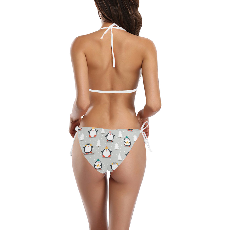 Cute Penguin christmas pattern Sexy Bikinis Two-Piece Swimsuits