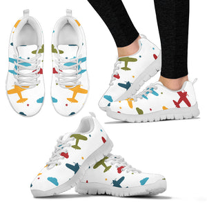 Airplane Star Cloud Colorful Women'S Sneaker Shoes