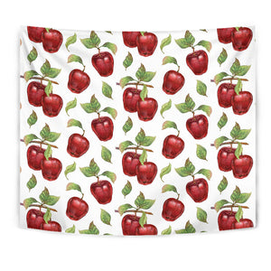 Red Apples Pattern Wall Tapestry