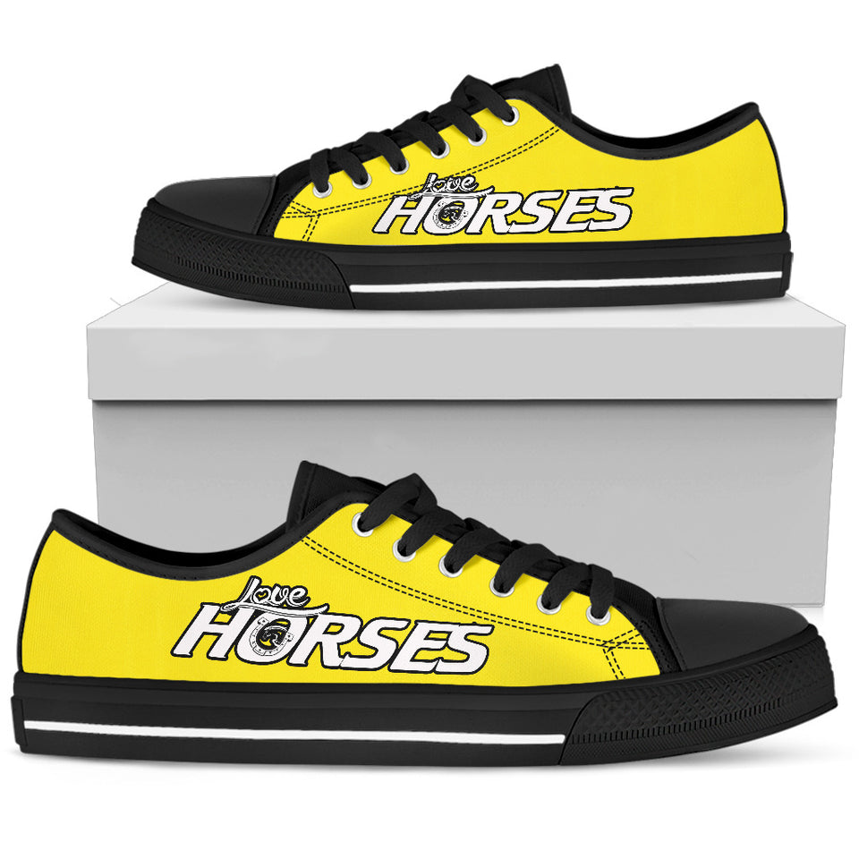 Love Horses Yellow Women's Low Top Shoe